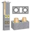 Керамический дымоход Schiedel базовый комплект двуходовой с вентиляцией.