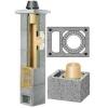 Керамический дымоход Schiedel базовый комплект одноходовой с вентиляцией.